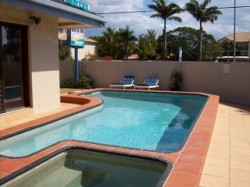 Sparkling Saltwater Pool and Heated Saltwater Spa